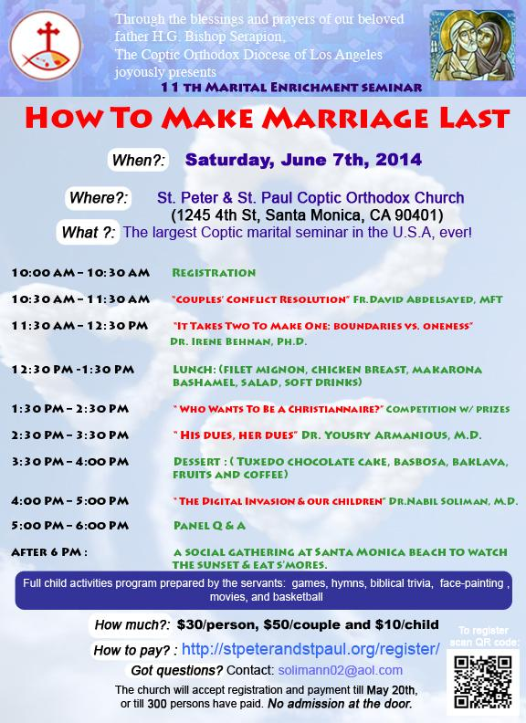 Annual Marital Enrichment Seminar – June 7, 2014
