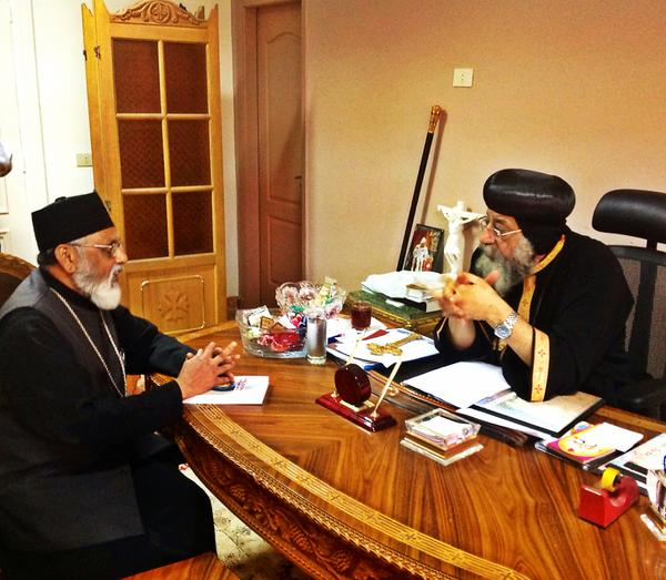 Pope Tawadros II Expresses Interest to mediate Unity between Syriac and Indian Orthodox Churches: Calls for Peace in Malankara